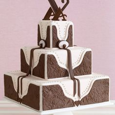 Western wedding cakes are not as famous as more popular wedding cake themes. Even so, a western-themed wedding cake is still a hit throughout much of the country. Pretty Wedding Cakes, Amazing Wedding Cakes, Wedding Cake Designs, Pretty Cakes, Beautiful Cakes, Amazing Cakes, Wedding Ideas, Wedding Themes, Wedding Stuff