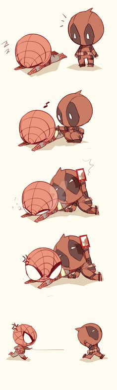 Spideypool123 by LKiKAi.deviantart.com on @DeviantArt