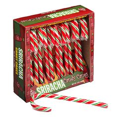 Sriracha flavored candy canes!