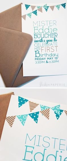 Birthday invite for a friend's lil' man!