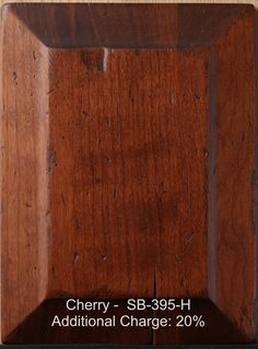 Cherry Wood Furniture Finishes   Our furniture is finished with one coat of stain and two coats of catalyzed varnish which resists moisture from penetrating the furniture.