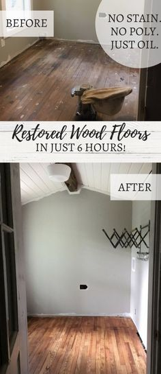 How We Refinished Our Old Wood Floors In 6 Hours - Farmhouse Decoration Old Wood Floors, Wood Diy, Old Wood, Flooring, Old Wood Projects, Restore Wood, Refinish Wood Floors, Diy Wood Floors, Wood Floor Finishes