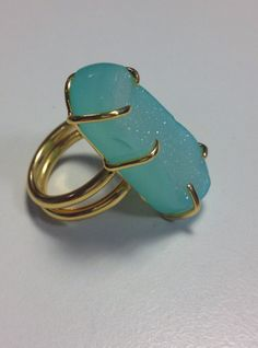 Flux Jewellery School competition entry by Lynn Allerdyce 'This ring makes me feel sparkly, shiny, summery, glamorous, all rolled into one!'