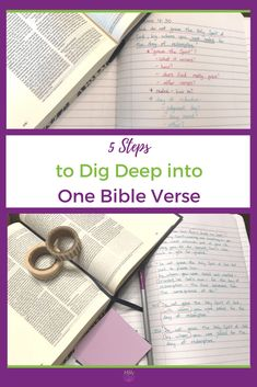 5 Steps to Dig Deep into One Bible Verse #christian #faith #bible #biblejournaling