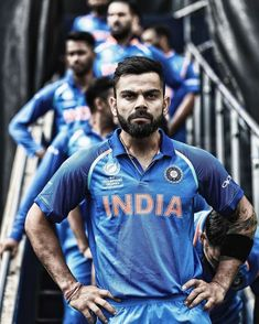 Virat Kohli, captain of India waits to lead his team out against Pakistan ahead of the ICC CHampions Trophy match between India and Pakistan at Edgbaston on June 2017 in Birmingham, England. Get premium, high resolution news photos at Getty Images India Cricket Team, Cricket Sport, Cricket News, Virat Kohli Instagram, Virat Kohli Wallpapers, Team Wallpaper, Mobile Wallpaper, Virat And Anushka, Cricket Wallpapers