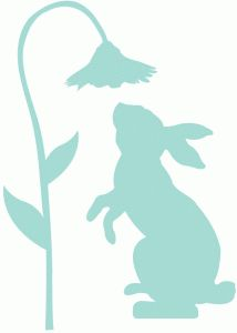 Silhouette Design Store - View Design rabbit and flower silhouette Rabbit Silhouette, Animal Silhouette, Silhouette Design, Applique Patterns, Spring Crafts, Easter Crafts, Easter Bunny, Painted Rocks, Cricut