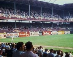 See Brass Rail bar billboard - was located and in Manhattan New York Stadium, Stadium Tour, Shea Stadium, Yankee Stadium, Candlestick Park, Polo Grounds, Baseball Park, Mlb Teams, Washington Nationals