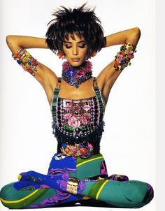 Christy Turlington in early 90s Versace