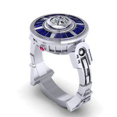 Star Wars | 11 Fabulously Geeky Wedding Rings, Not a big Star Waes fan, but I will always love R2D2.