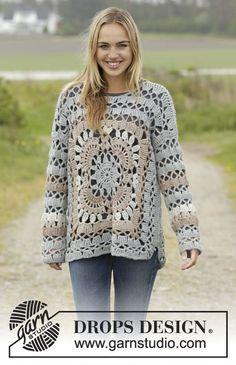 Harvest Love Jumper By DROPS Design - Free Crochet Pattern - (garnstudio)