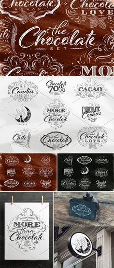 Chocolate Set by Anna on @creativemarket