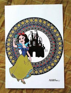 Show white 👸 Mandala Art Lesson, Mandala Painting, Show White, Disney Princesses, Mandala Design, Art Lessons, Cards, Color Art Lessons, Mandala Drawing