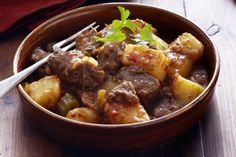 A hearty, wholesome meal that will keep everyone happy, semi-dried tomato braised beef and potato stew from Curtis Stone.