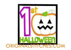 1st Halloween Box Applique Design - Original Stitches