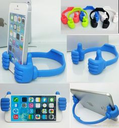 Multi colors thumb lazy bracket for iPhone and smartphone & tablets gift