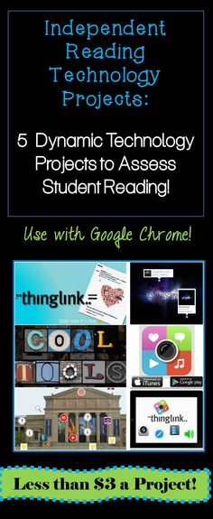 Ban those generic book tests and dry reading logs! Let students showcase their knowledge and create with this exciting teaching bundle! Personalize student learning and go digital with Animoto, Glogster, Thinglink, Smore, and Blendspace! Over 100 free audio and video websites bookmarked for students to access!