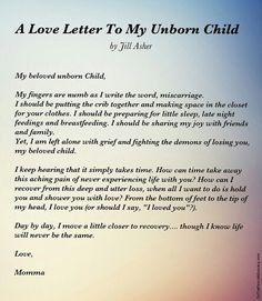 Miscarriage letter