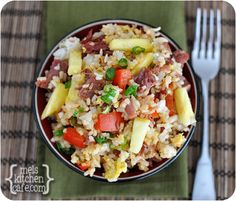Hawaiian Fried Rice 13040104 ~  Ham and pineapple fried rice easy and quick