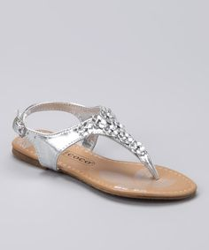 Love this Silver Floral Sandal by COCO Jumbo on #zulily! #zulilyfinds