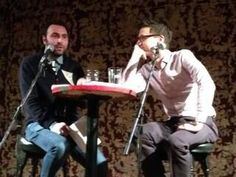 Jason Guriel and Michael Lista during a TINARS event at the Gladstone Hotel on January 8, 2014. Photo by Nyla Matuk.