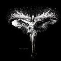 La imatge correspon a l'àlbum de fotografies Black, que té com a autor el fotograf de dansa Derrick Senior. En aquest àlbum podem contemplar els moviments expressius de la dansa.