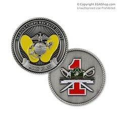 Coin, 1st Battalion, Parris Island Parris Island, Us Marines, Army & Navy, Marine Corps, Usmc, Coins, Boot Camp, Military, Motivation