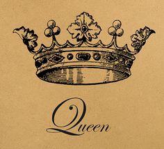 Queen crown Digital Image Download Sheet by MillionDownloads, $1.00
