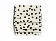 Grey Dots Napkins by Anna Joyce. These are too cute!
