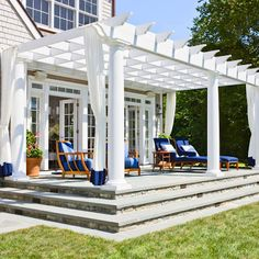 great pergola attached to the house