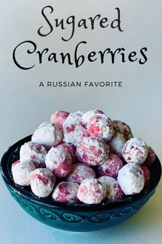 Sugared Cranberries are the perfect festive treat for the holidays. Sweet and tangy, crunchy and soft, I can't get enough of these. Candied Cranberries (клюква в сахаре) Best Dessert Recipes, Great Recipes, Snack Recipes, Favorite Recipes, Candy Recipes, Amazing Recipes, Drink Recipes, Delicious Recipes, Healthy Recipes