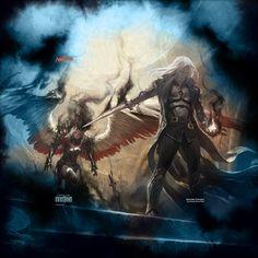 cyborg vs worm titan by paulobarrios Medieval Fantasy, Sci Fi Fantasy, Fantasy Girl, Dark Fantasy, Dystopian Art, Evil Demons, Goth Art, Dark Elf, Fantasy Inspiration