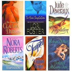 Temptation in Romance Novels-Suspense Nora Roberts,Henley,Devereaux Brown book Lot