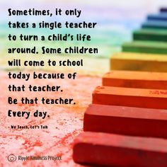"""Teaching is not an easy job and a teacher who can connect with their students is able to """"be the change"""" some of them need. These people can have an especially significant impact on students who are desperate to feel some love and support. Today, I'd like to thank every one of those special... #teaching #teachers #teacherappreciation #distancelearning"""