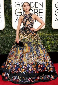 Olivia Culpo in Zuhair Murad Couture at 2017 Golden Globe Awards