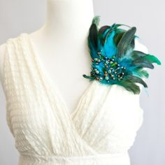 Incorporate shimmering jewel tones into your wardrobe this spring! Versatile brooch can be worn on a hat, in your hair, on your shoulder as a brooch and more! www.virgomooncreations.com