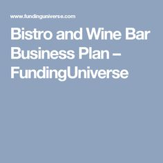 Wine Bar Business Plan  How To Start A Wine Bar  Wine Bar