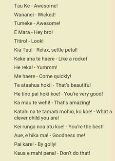 Te Reo phrases to use in class                                                                                                                                                     More