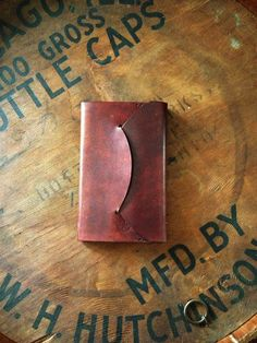 Leather Field Notes/ Moleskine Cahier Cover by Wright and Rede.