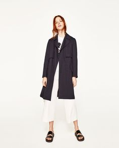 FLOWING TRENCH COAT WITH GINGHAM CHECK LINING-OUTERWEAR-WOMAN-SALE | ZARA Spain