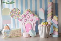 Candy Theme Birthday Party, Candy Party, Birthday Decorations, Birthday Parties, Pink Christmas, Candyland, Kids Decor, First Birthdays, Diy And Crafts