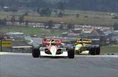 Ayrton Senna (Mclaren) VS Michael Schumacher (Benetton) GP South Africa 1992.