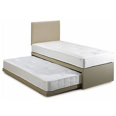 Buy John Lewis Savoy Two Pocket Spring Trundle Guest Bed, Single Online at johnlewis.com