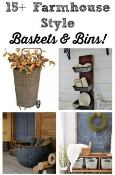 Farmhouse Baskets and Bins - Knick of Time