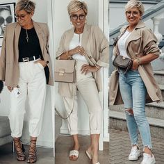 Fashion Styles, Women's Fashion, Fashion Outfits, Neutral Colors, Hermes, Casual Outfits, Dressing, Beige, Fashion Over 40