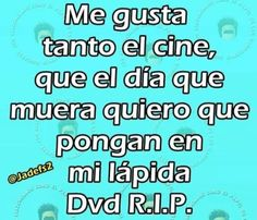 DVD R.I.P.. #humor #risa #graciosas #chistosas #divertidas Bingo, Funny, No Worries, Sayings, Memes, Quotes, Frases, Funny Images, Hilarious Pictures