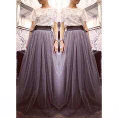 """""""Lace top and skirt by Coo Culte"""""""