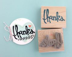 thanks sketched and carved by Melody Hyde  Stampin' Up!