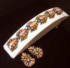 Stunning Vintage Florenza Bracelet & Earrings by VintageTreasures4U on Etsy, $85.00