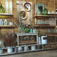 The stem statement Merchandising Displays, Store Displays, Garden Center Displays, Garden Centre, Garden Living, Visual Display, Garden Shop, Retail Design, Vintage Flowers