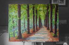 Ein Allee im Park, inspiriert von dem täglichen Weg zur Uni.  115 x 90 cm, Acryl auf Leinwand.  noch erhältlich